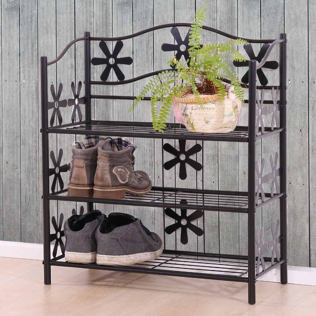 regal metall b cherregal schuhregal standregal genf h he 50 112 cm ebay. Black Bedroom Furniture Sets. Home Design Ideas