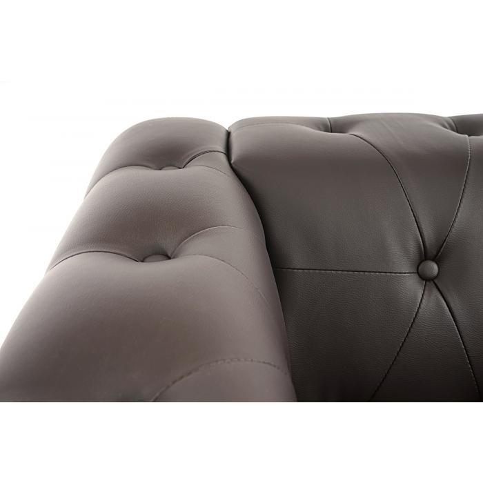 luxus 3 1 1 sofagarnitur couchgarnitur loungesofa chesterfield kunstleder eckige f e braun. Black Bedroom Furniture Sets. Home Design Ideas