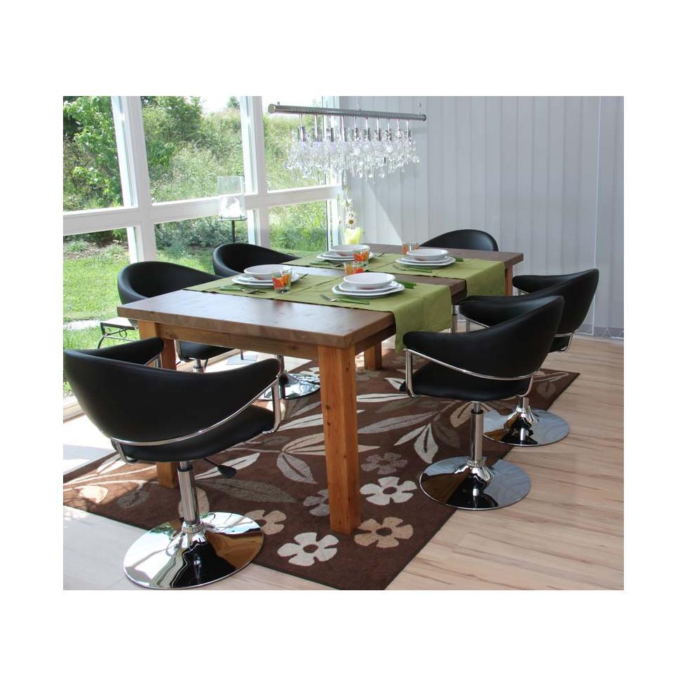 6x esszimmerstuhl dema stuhl e zimmerstuhl schwarz ebay for Design esszimmerstuhl drehbar