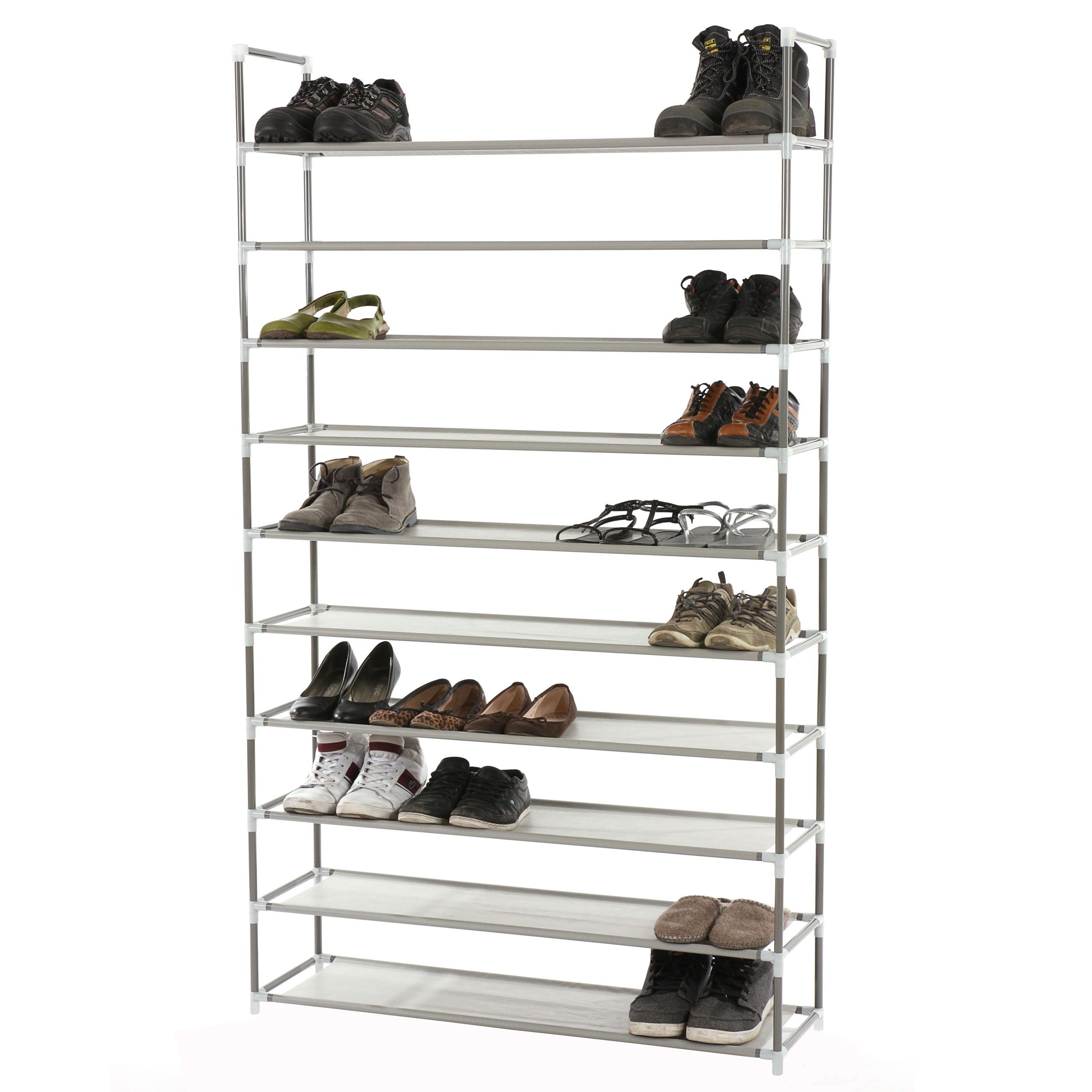 Schuhregal 50 Paar Schuhe.Schuhregal Schuhablage Schuhständer 10 Ebenen Für 50 Paar Schuhe