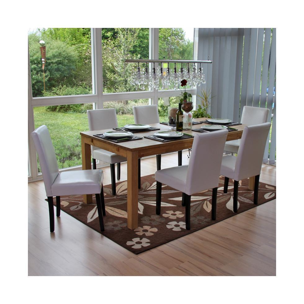 Set 6x sedie littau pelle per sala da pranzo 43x56x90cm for Sedie in pelle per sala da pranzo