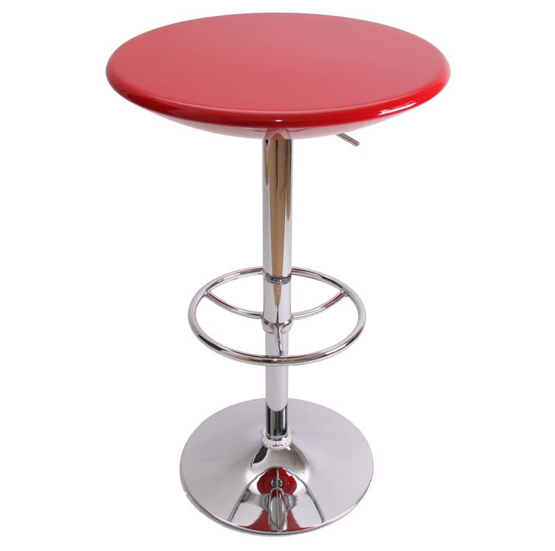 Bartisch stehtisch bistrotisch mailand h henverstellbar for Table de bar rouge