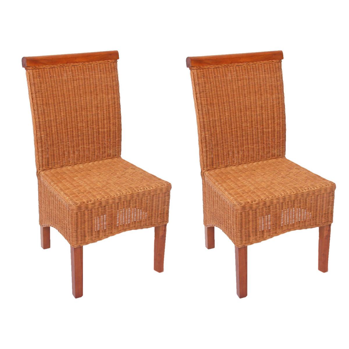 2x esszimmerstuhl korbstuhl m42 rattan mit ohne kissen ebay. Black Bedroom Furniture Sets. Home Design Ideas