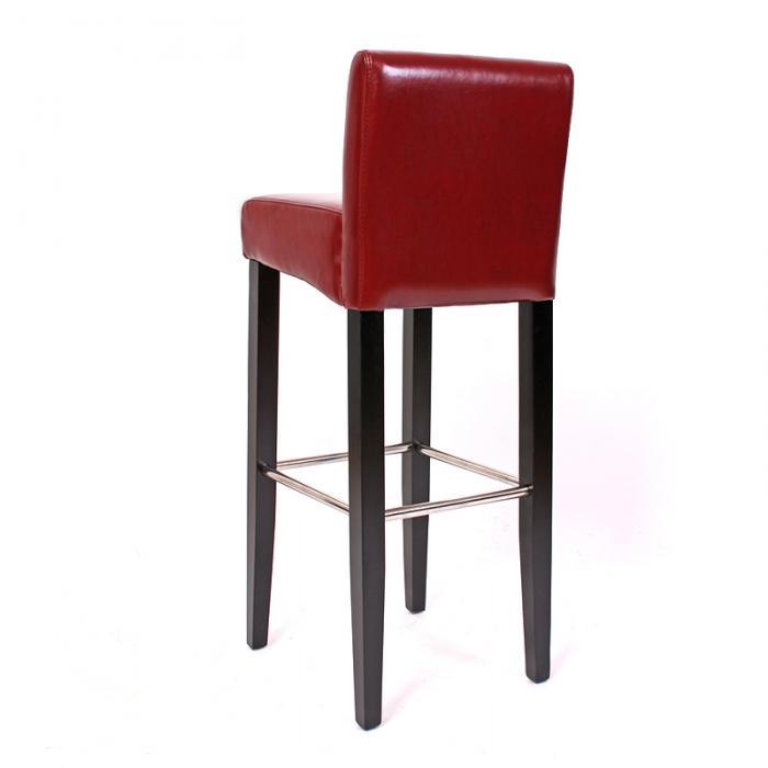 2x barhocker barstuhl n25 leder 102x44x37 cm rot. Black Bedroom Furniture Sets. Home Design Ideas