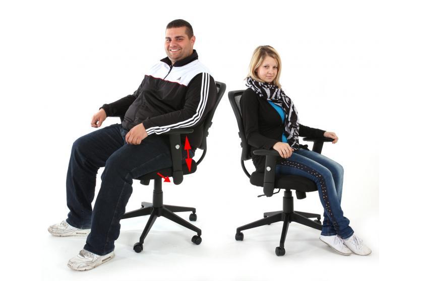 profi b rostuhl seattle chefsessel drehstuhl 150kg. Black Bedroom Furniture Sets. Home Design Ideas