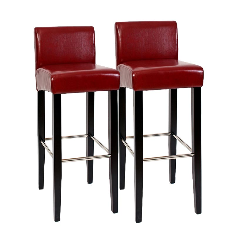 2x barhocker barstuhl n25 leder 102x44x37 cm wei oder rot ebay. Black Bedroom Furniture Sets. Home Design Ideas