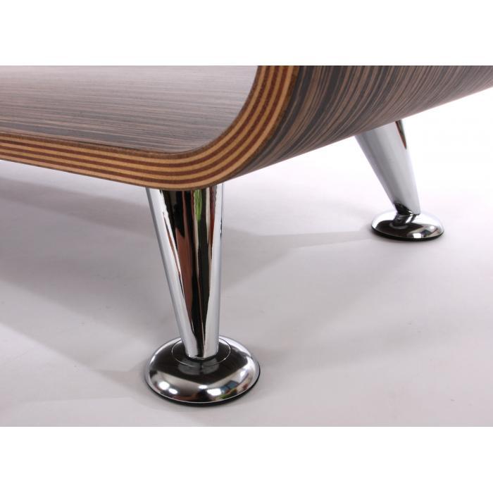 Couchtisch Loungetisch Club Tisch Perugia 34x90x39cm Zebra Dunkel Breite Streifen