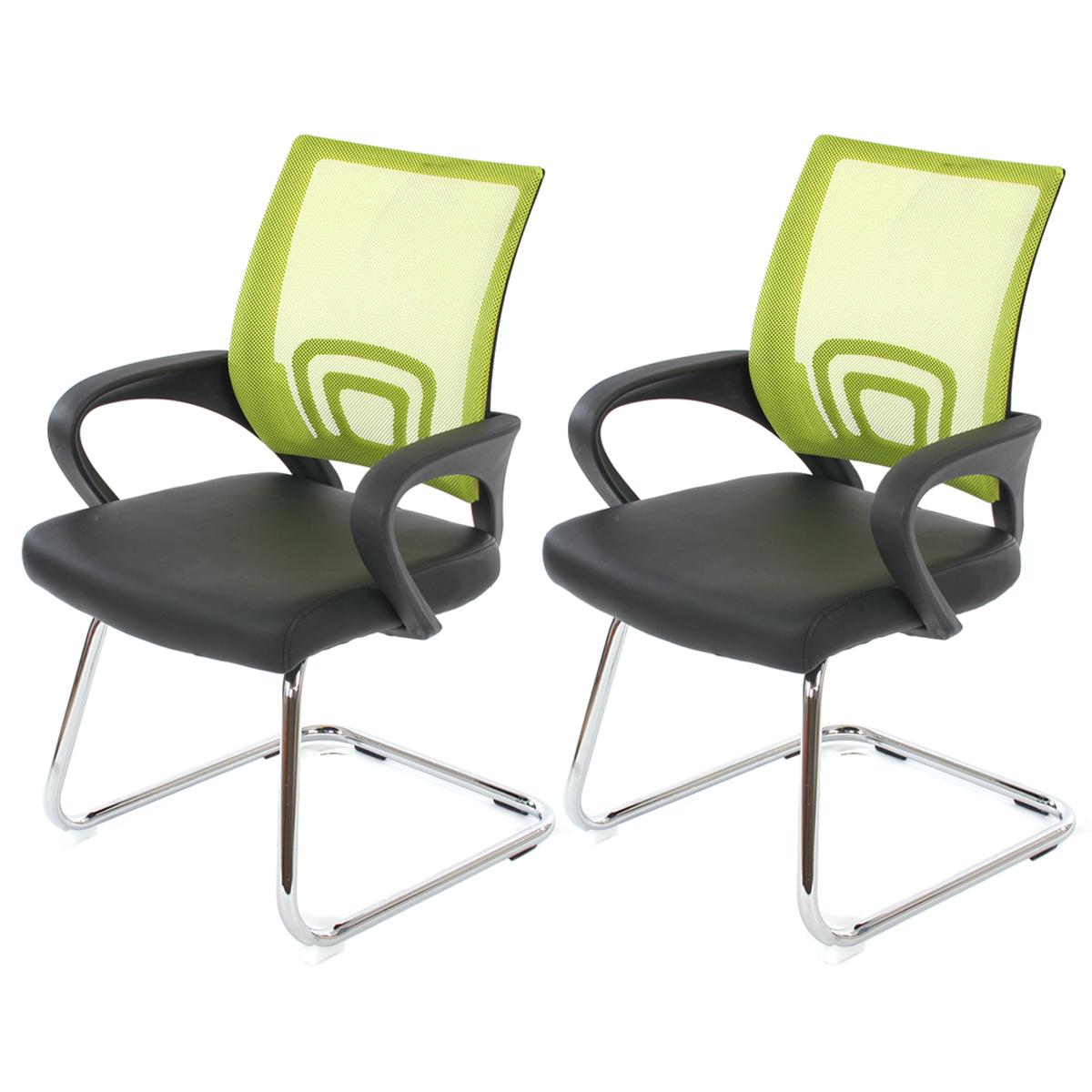 2x konferenzstuhl besucherstuhl ancona kunstleder ebay. Black Bedroom Furniture Sets. Home Design Ideas