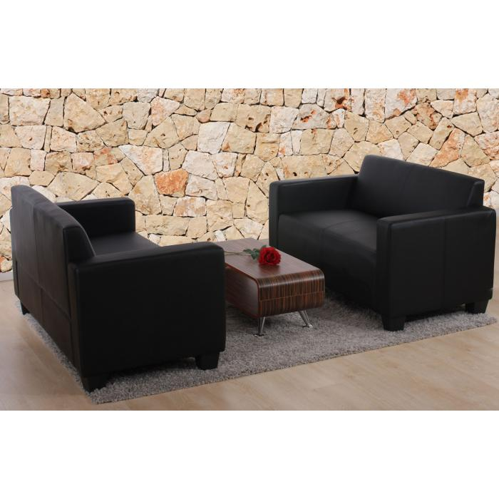 sofa garnitur couch garnitur 2x 2er sofa lyon kunstleder. Black Bedroom Furniture Sets. Home Design Ideas