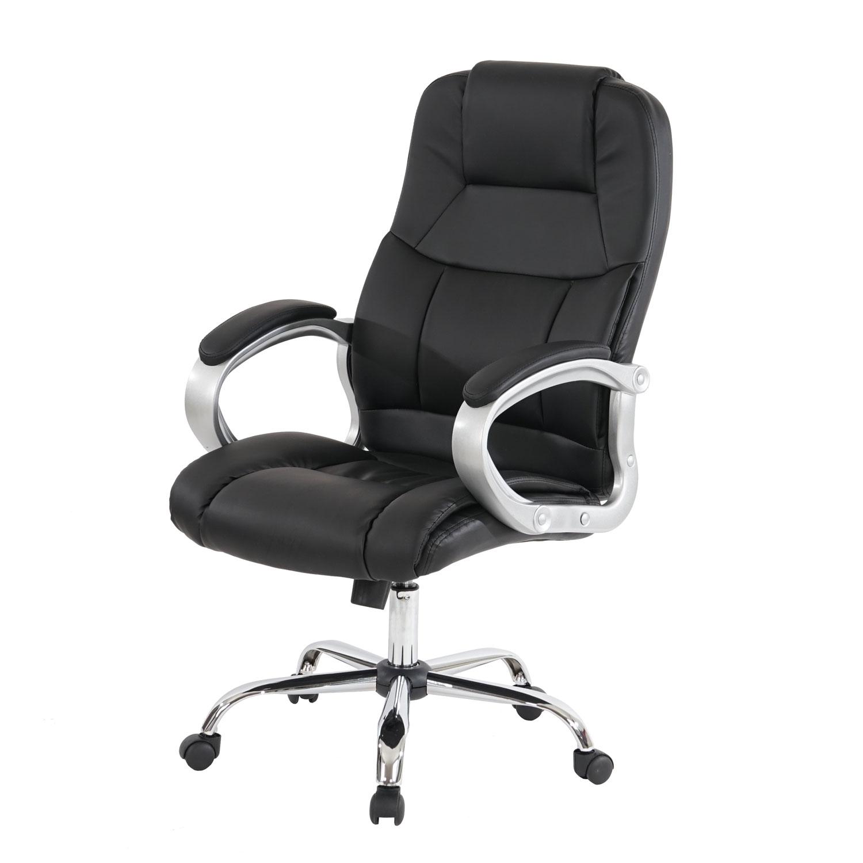 Profi-Bürostuhl Chicago XXL Chefsessel Drehstuhl Us-Version, 150kg belastbar, Kunstleder schwarz