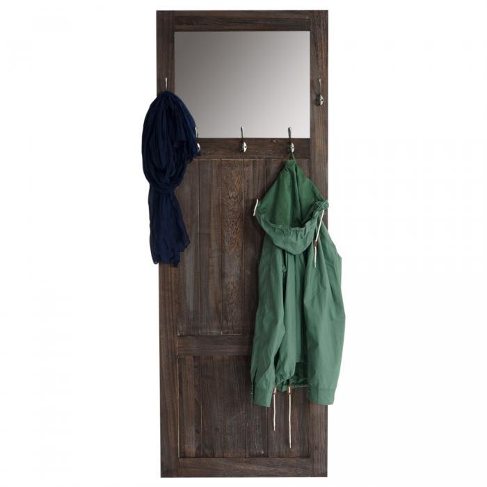 Beliebt Garderobe Wandgarderobe mit Spiegel Wandhaken 180x65x7cm, Shabby HB17