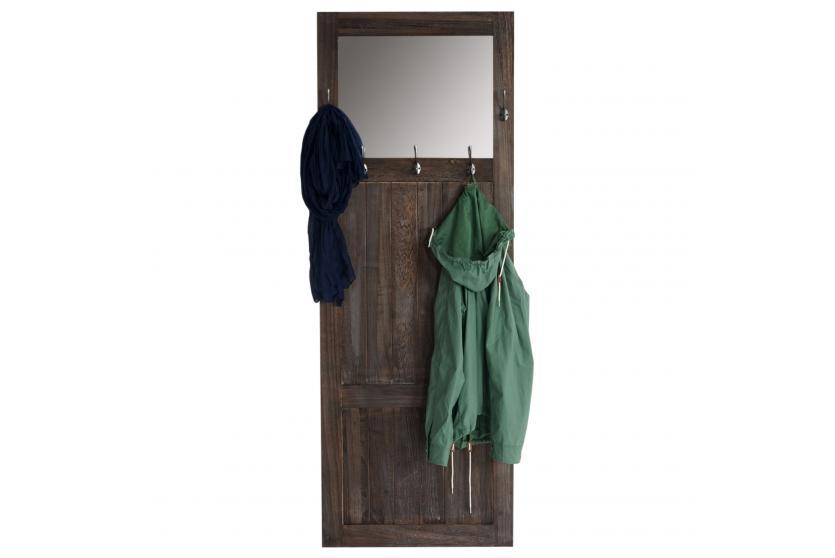 Garderobe Wandgarderobe Mit Spiegel Wandhaken 180x65x7cm, Shabby Look,  Vintage ~ Braun