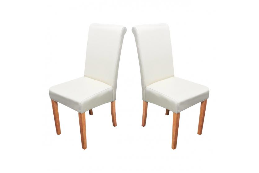 Esszimmerstühle modernes design schwarz  2x Esszimmerstuhl Stuhl Lehnstuhl Novara II, Leder ~ creme, helle ...