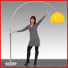 Reality|Trio Bogenlampe Lounge Deal, Höhe: 2,06m, Schirm: 40cm ~ orange