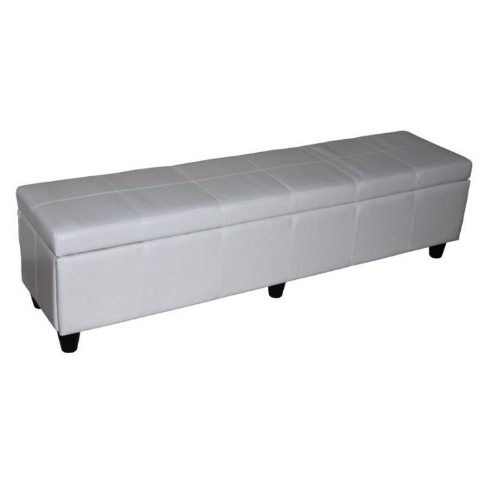 garnitur sitzgruppe bank mit aufbewahrung kriens xxl 4 st hle littau leder wei. Black Bedroom Furniture Sets. Home Design Ideas