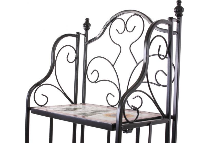 mosaik regal andria pflanzregal wandregal metallregal 3 oder 4 b den ebay. Black Bedroom Furniture Sets. Home Design Ideas
