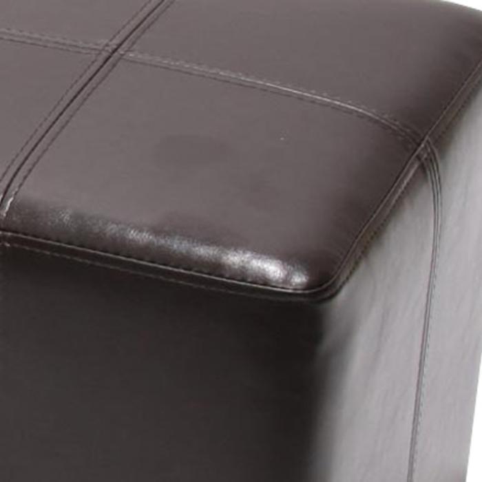 2x sitzw rfel hocker sitzhocker onex leder 36x36x36cm. Black Bedroom Furniture Sets. Home Design Ideas
