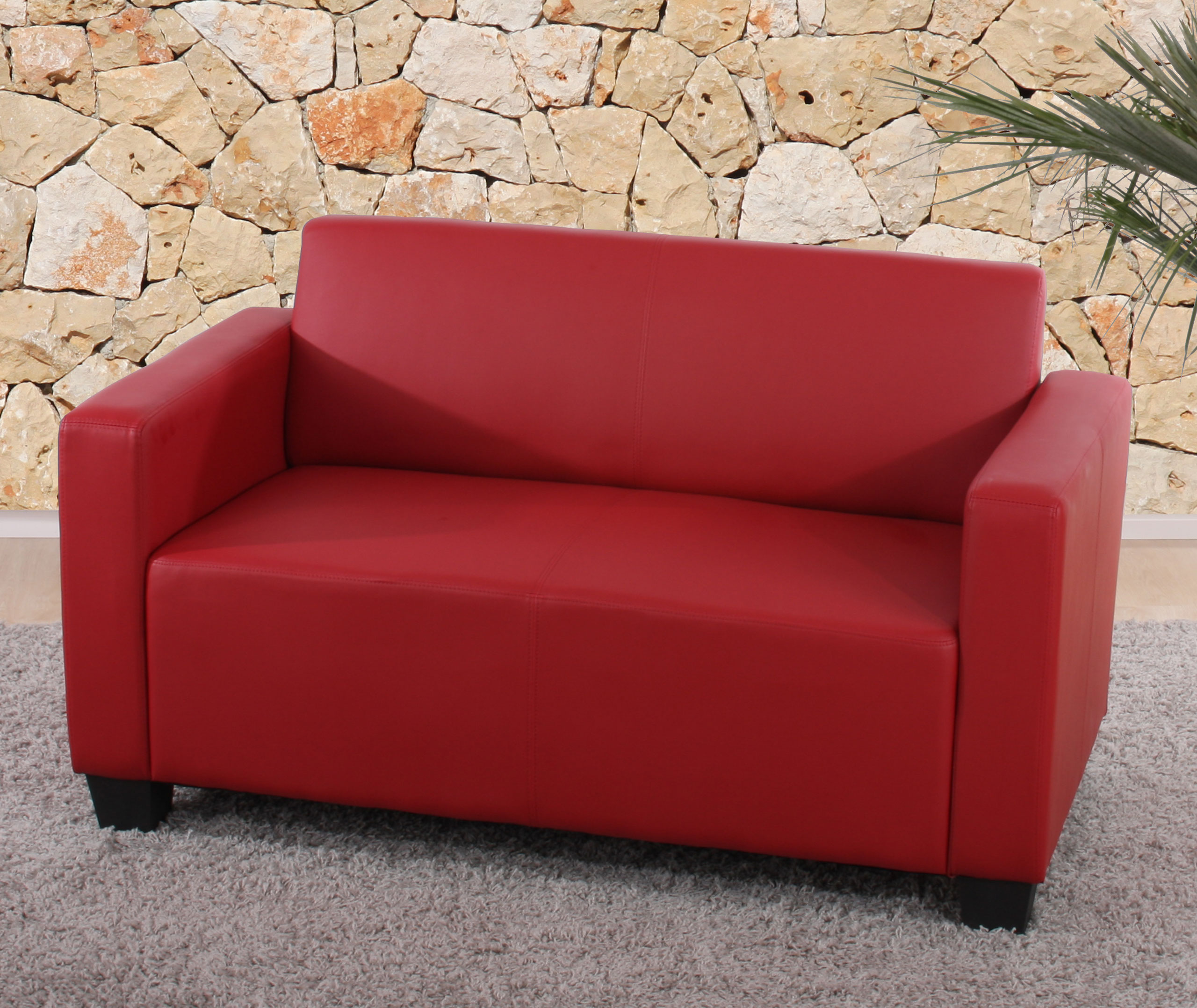 modular 2er sofa couch lyon loungesofa kunstleder rot. Black Bedroom Furniture Sets. Home Design Ideas