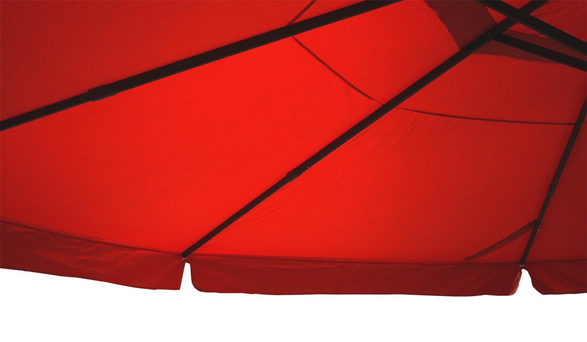 Alu-Sonnenschirm Carpi Pro mit Volant Ø 5m creme ohne Ständer Marktschirm