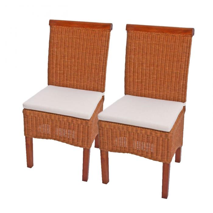Rattan Esszimmerstühle esszimmerstuhl korbstuhl stuhl m42 rattan mit sitzkissen
