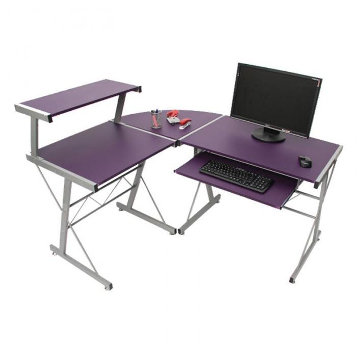 Jugend Schreibtisch Burotisch Nevada Ca 100x115x140cm Lila