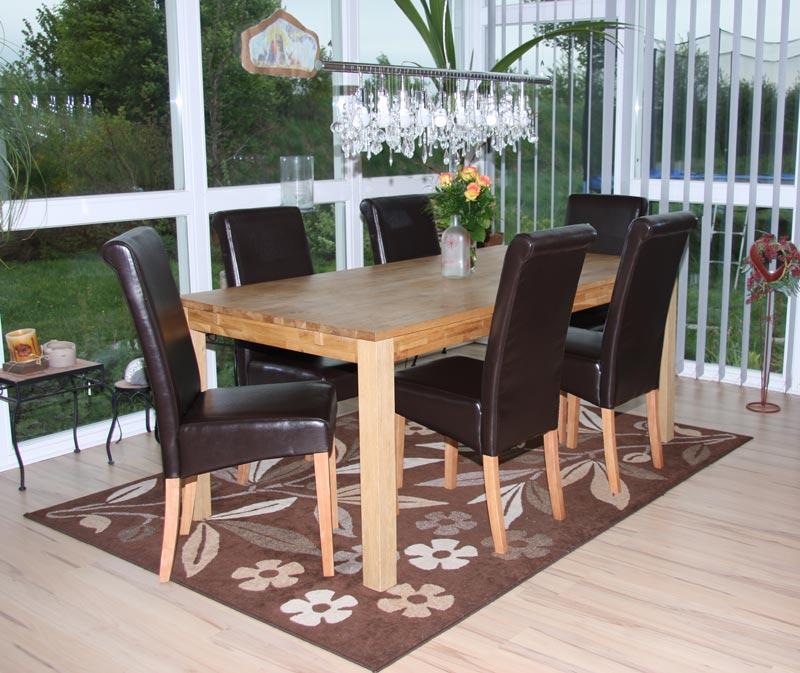 6x esszimmerstuhl stuhl novara ii leder schwarz creme rot grau wei braun ebay. Black Bedroom Furniture Sets. Home Design Ideas