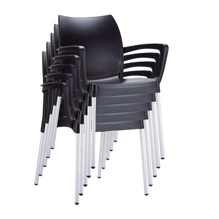 stapelstuhl bistrostuhl gartenstuhl kunststoff dolce schwarz. Black Bedroom Furniture Sets. Home Design Ideas