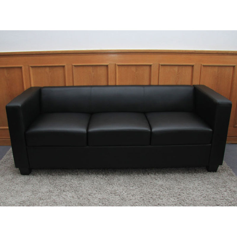 3er sofa couch loungesofa lille leder kunstleder mikrofaser textil ebay. Black Bedroom Furniture Sets. Home Design Ideas