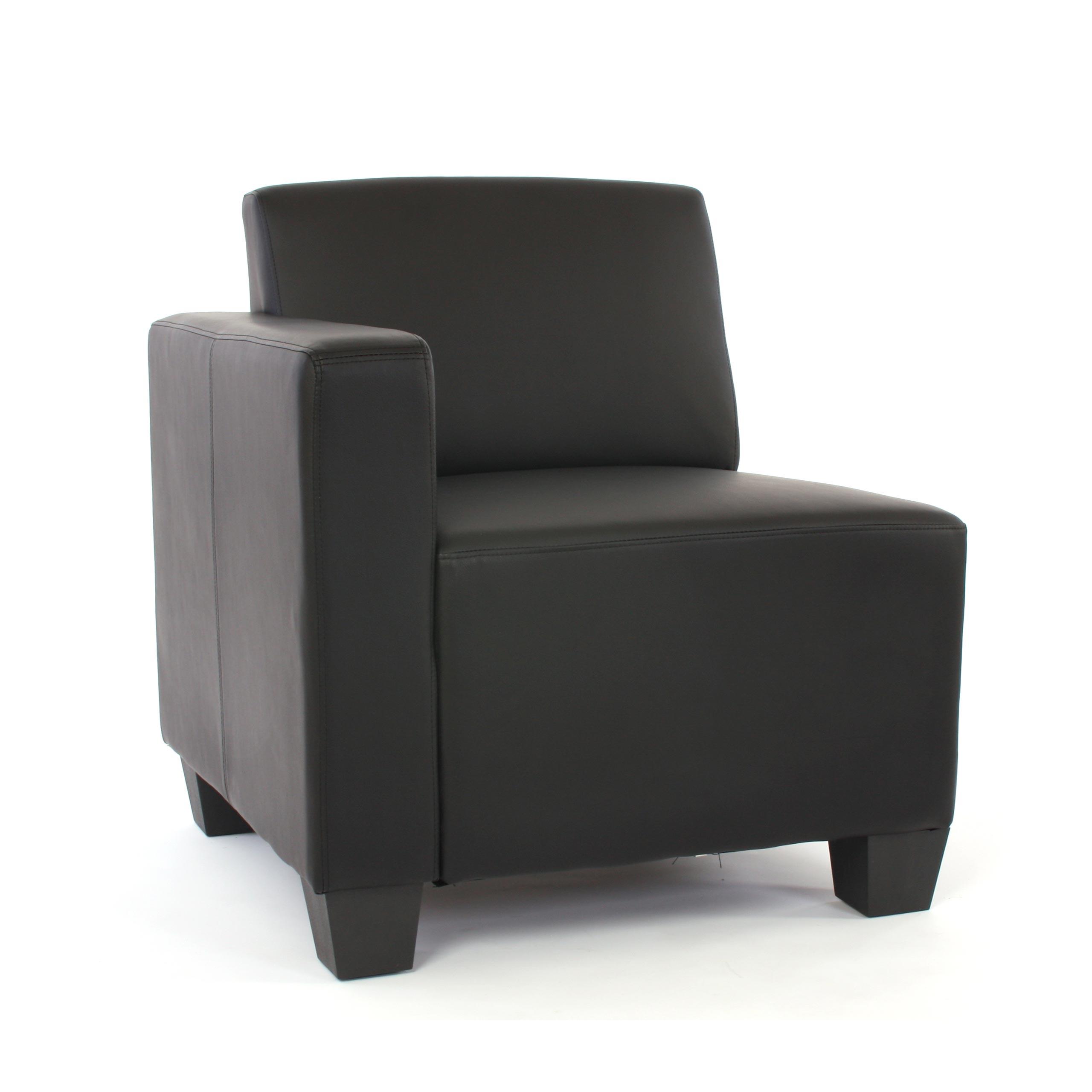 modular 2 sitzer sofa couch lyon kunstleder schwarz. Black Bedroom Furniture Sets. Home Design Ideas