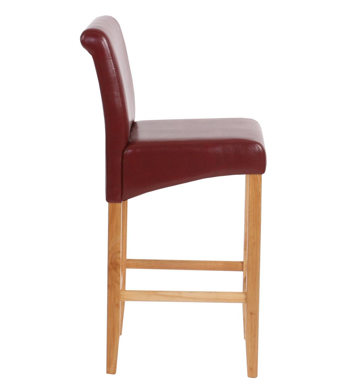 2x barhocker barstuhl hwc c33 rot braun helle beine kunstleder. Black Bedroom Furniture Sets. Home Design Ideas