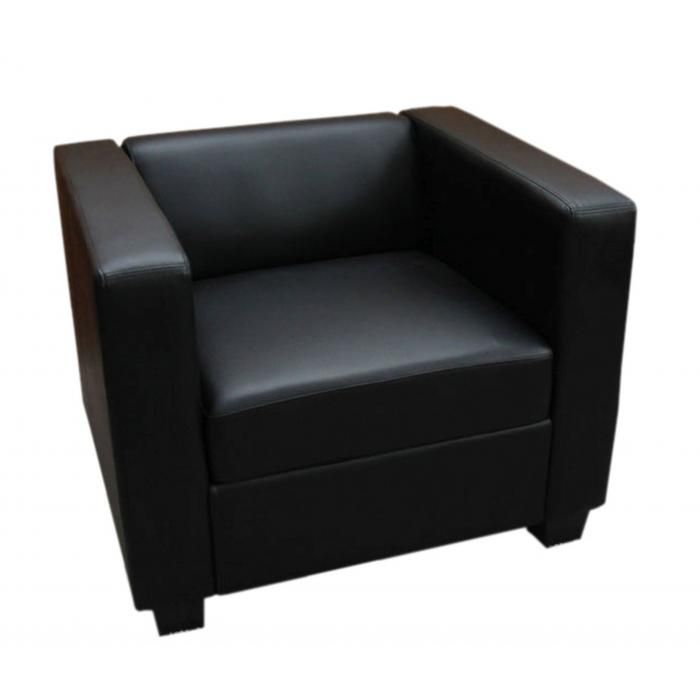 Lounge sessel  Loungesessel Lille ~ Kunstleder, schwarz