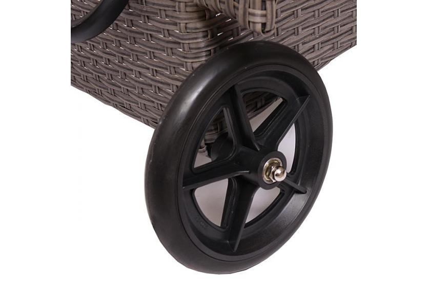 alu sonnenliege relaxliege gartenliege liege romvii poly. Black Bedroom Furniture Sets. Home Design Ideas