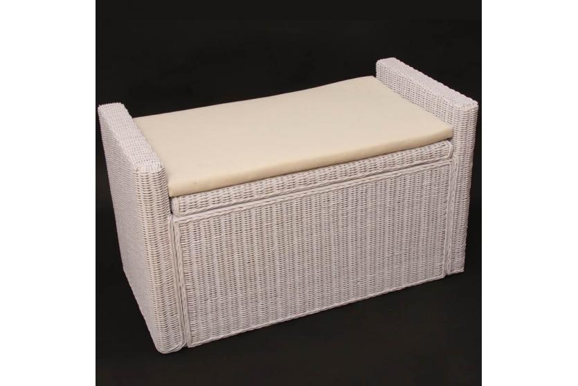 Sitzbank natur handgeflochten sitztruhe sitzkommode stauraum