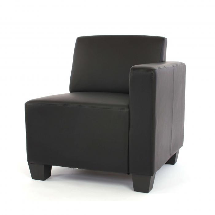 modular 3 sitzer sofa couch lyon kunstleder schwarz. Black Bedroom Furniture Sets. Home Design Ideas