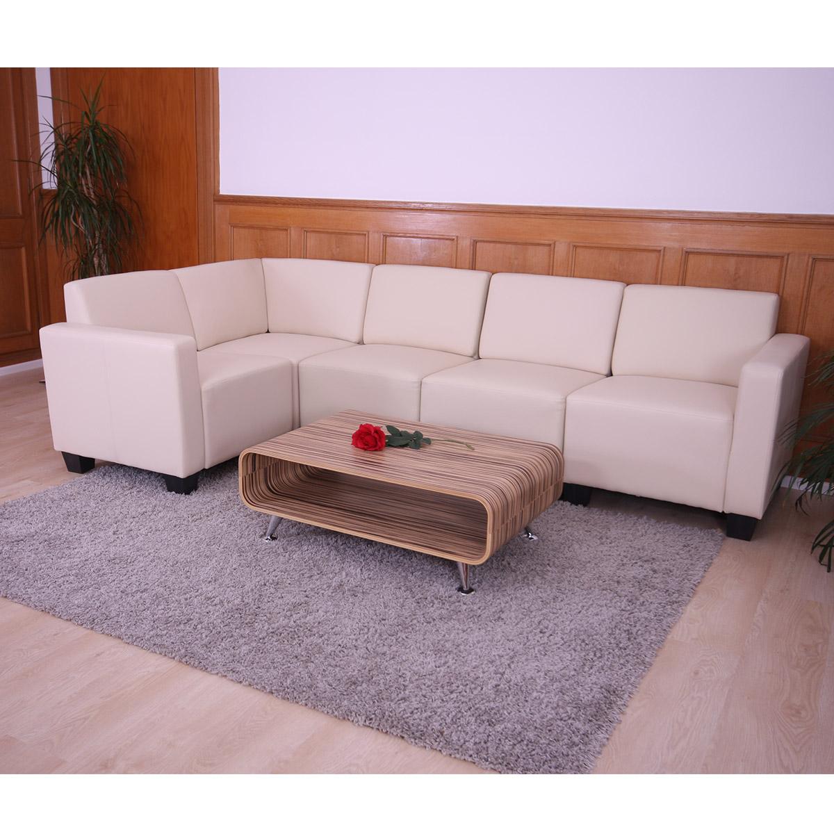 modular sofa system couch garnitur lyon 5 kunstleder creme. Black Bedroom Furniture Sets. Home Design Ideas