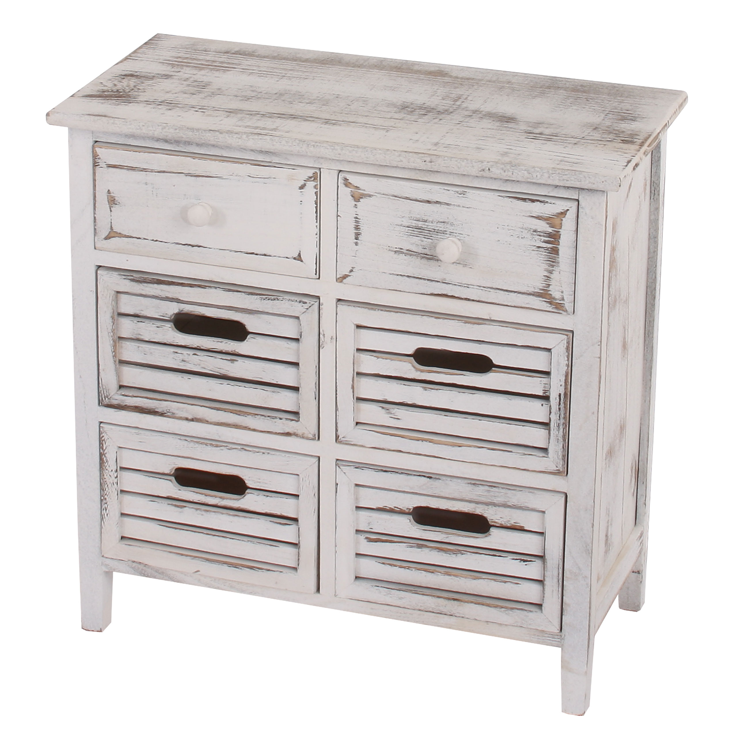schrank kommode 60x60x30cm shabby look vintage wei braun ebay. Black Bedroom Furniture Sets. Home Design Ideas