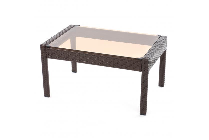polyrattan gartentisch porto beistelltisch kaffeetisch mit. Black Bedroom Furniture Sets. Home Design Ideas