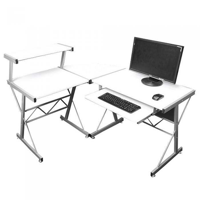 Jugend Schreibtisch Bürotisch Nevada Ca100x115x140cm Weiß