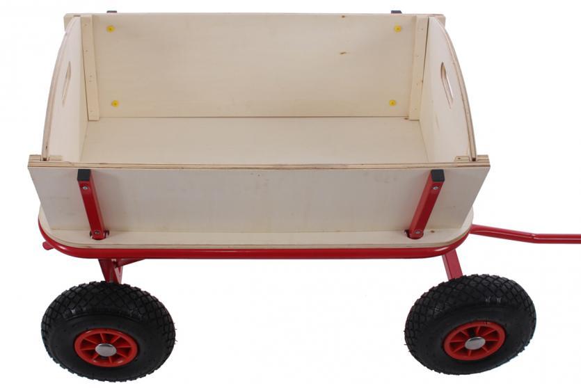 bollerwagen handwagen leiterwagen oliveira ohne sitz mit bremse dach rot. Black Bedroom Furniture Sets. Home Design Ideas