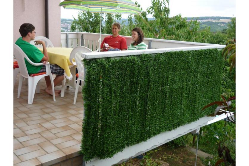 sichtschutz windschutz verkleidung f r balkon terrasse zaun tanne breit ebay. Black Bedroom Furniture Sets. Home Design Ideas