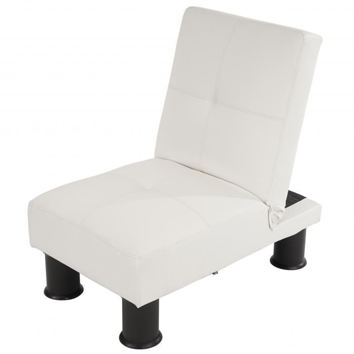 sessel relaxliege sofa schlafcouch g stebett melbourne ii wei kunstleder. Black Bedroom Furniture Sets. Home Design Ideas