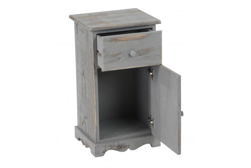 kommode beistelltisch nachttisch telefontisch 63x35x29cm shabby look vintage grau. Black Bedroom Furniture Sets. Home Design Ideas