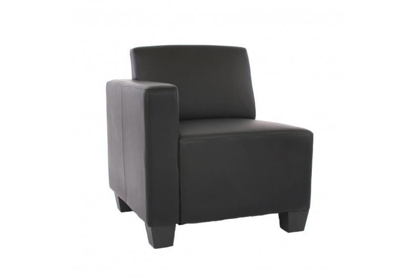 modular seitenteil links sessel mit armlehne lyon kunstleder schwarz. Black Bedroom Furniture Sets. Home Design Ideas