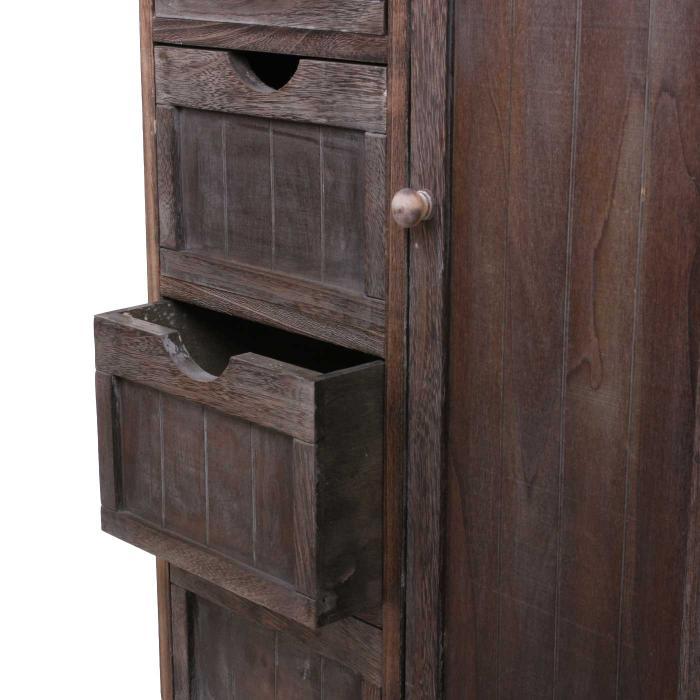 Kommode dunkelbraun  Schrank, 82x55x30cm, Shabby-Look, Vintage braun