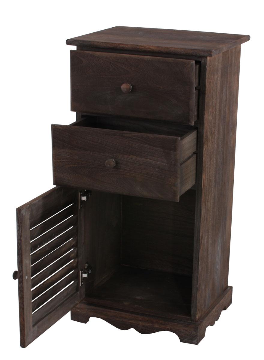 kommode schrank 81x40x32cm shabby look vintage braun. Black Bedroom Furniture Sets. Home Design Ideas