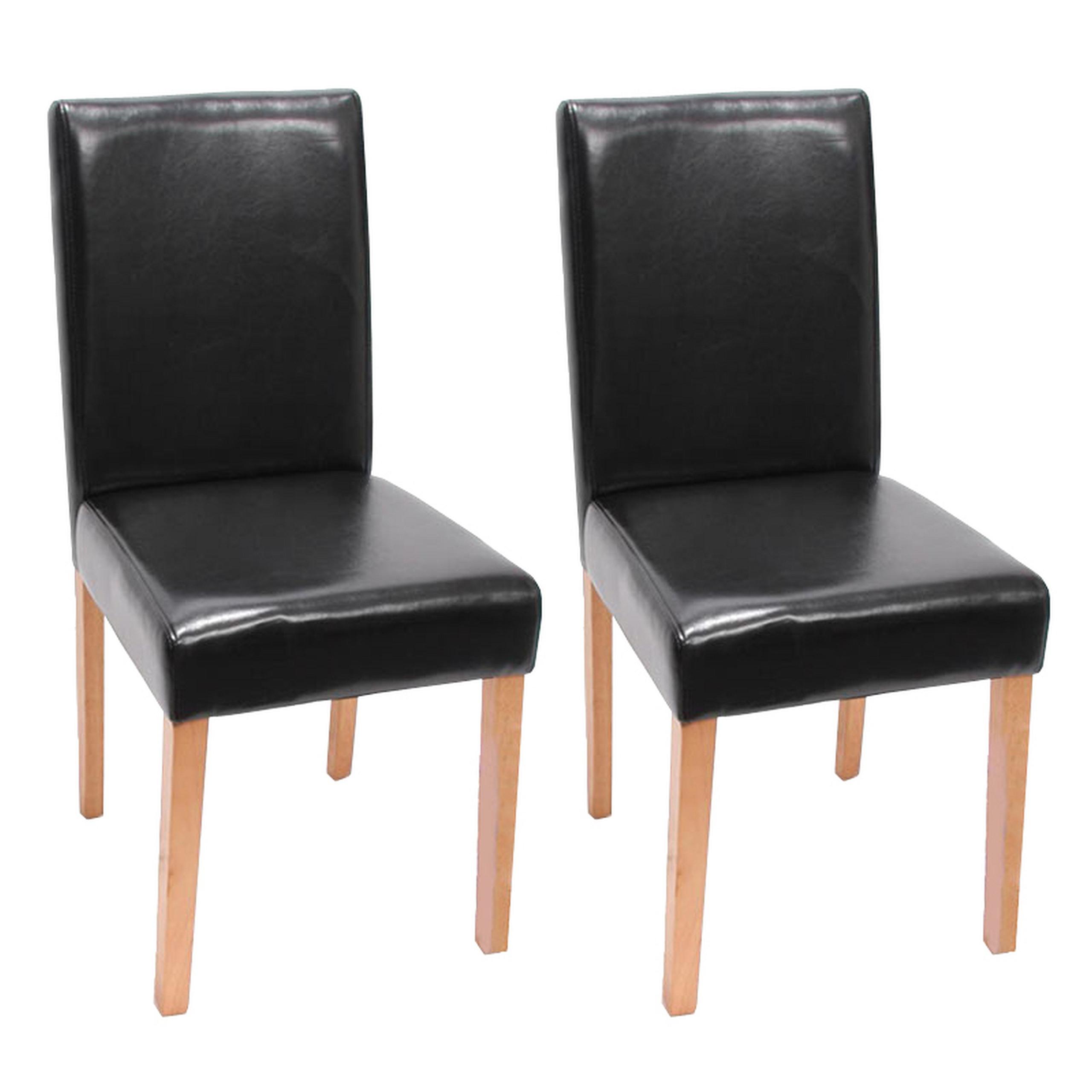 Set-2x-sedie-Littau-pelle-per-sala-da-pranzo-43x56x90cm-colore-a-scelta-D