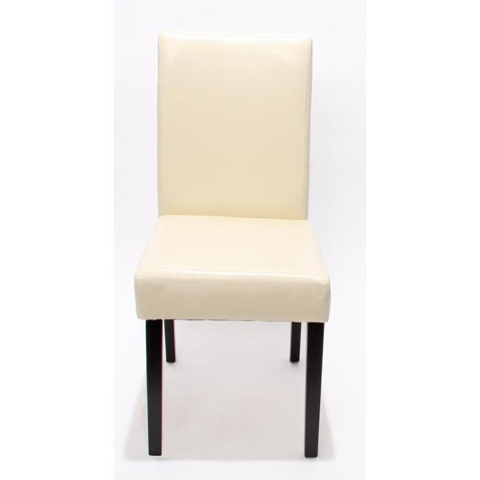 Garnitur Sitzgruppe Bank Mit Aufbewahrung Kriens XXL+4 Stühle Littau, Leder  ~ Creme