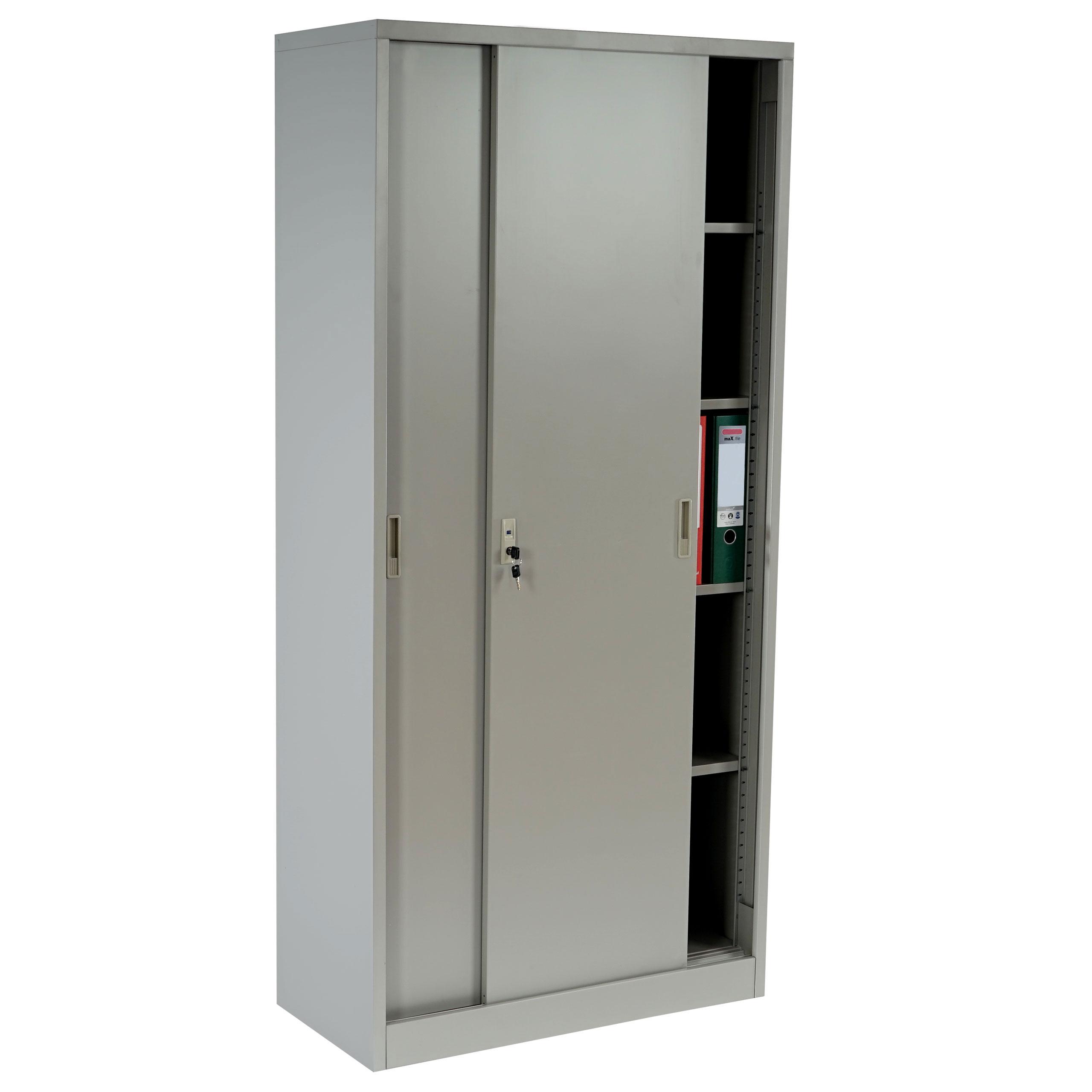 aktenschrank boston t131 metallschrank b roschrank stahlschrank 43kg 180x85x40cm grau. Black Bedroom Furniture Sets. Home Design Ideas