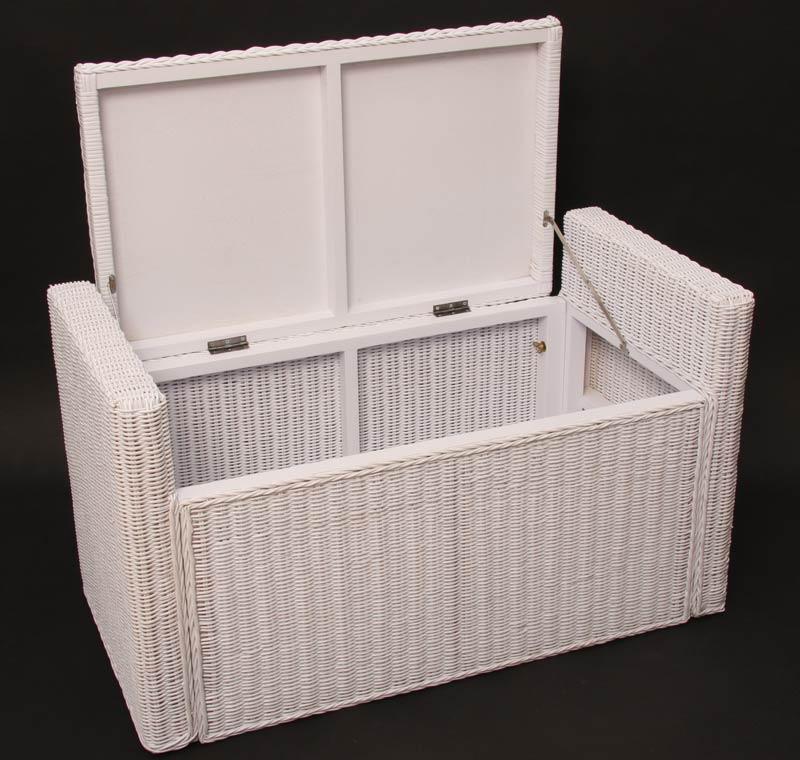 Sitzbank sitzhocker m92 rattan mit stauraum und kissen - Ikea panca contenitore ...