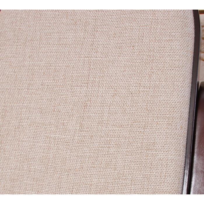 Schaukelstuhl schwingsessel m41 aus holz walnuss stoff beige for Schaukelstuhl stoff